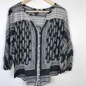 Lucky Brand | Tribal Print Boho Hippie Gypsy